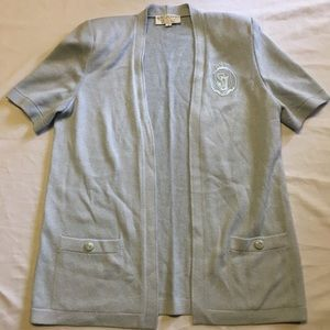 St. John open front cardigan size L